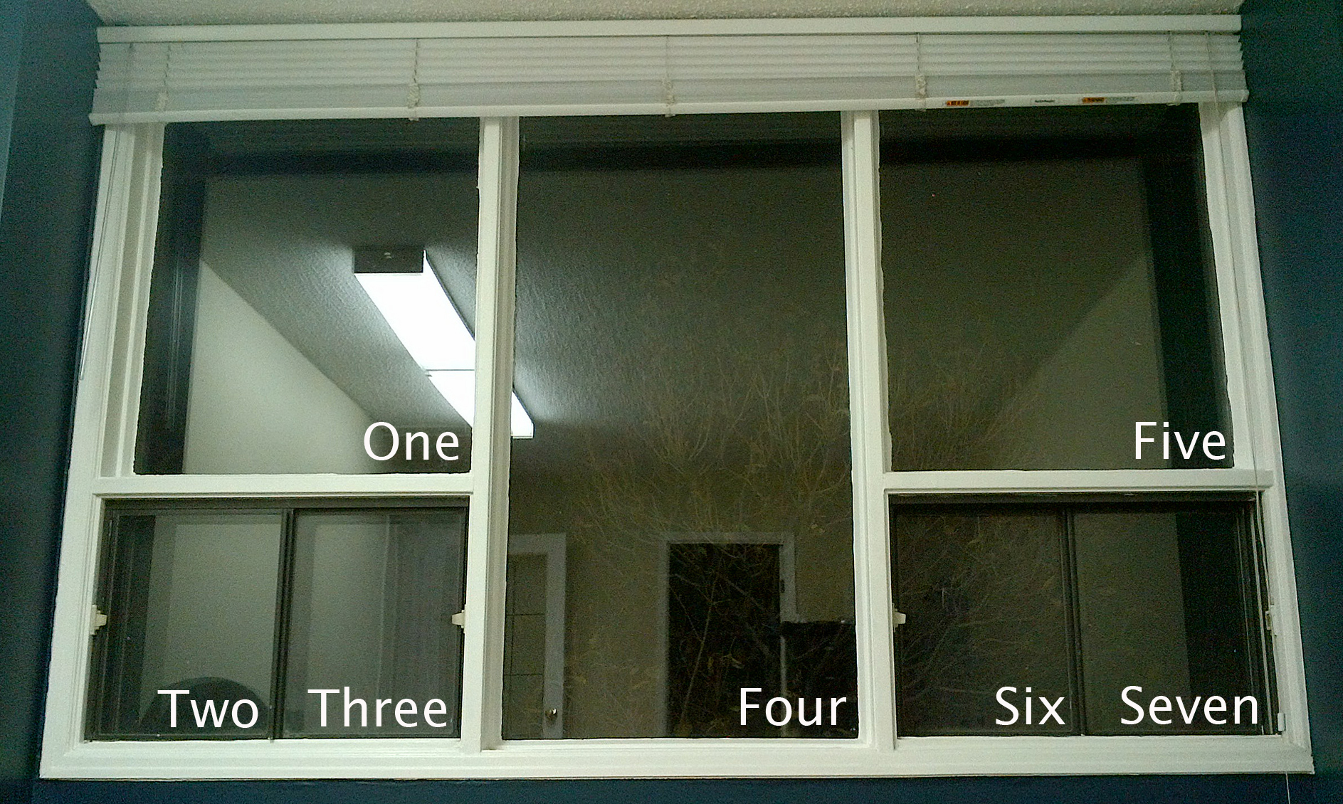 A diagram showing a window separated into multiple panes.