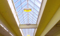 Mall skylight window cleaning in Calgary